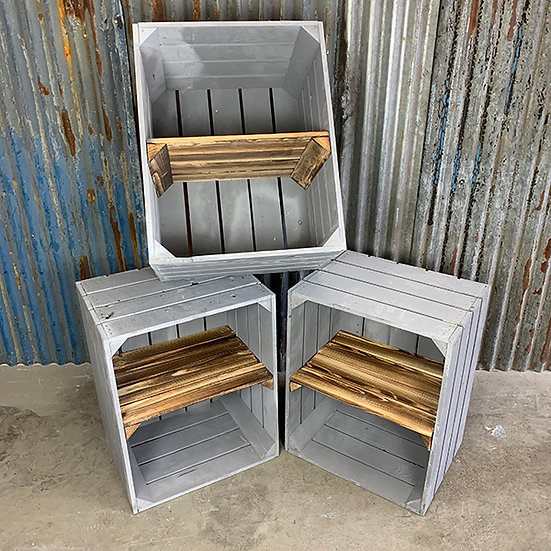 3er Set Neue graue Regalkiste | 50x40x30cm