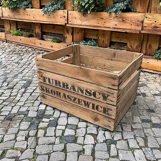 "Vintage Holzkiste ""Turbanscy Skoraszewice"" 50x40x30cm"