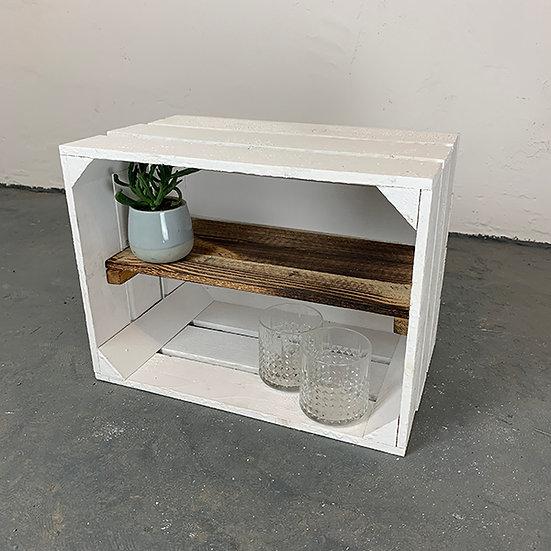 """Neue weiße Kiste """"Pfaueninsel"""" 40x30x23cm"""