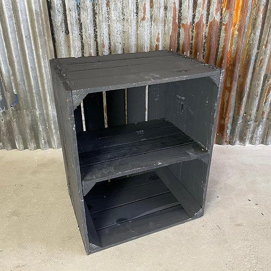 "Neue schwarze Holzkiste ""TXL Terminal A"" 40x50x30x30cm"