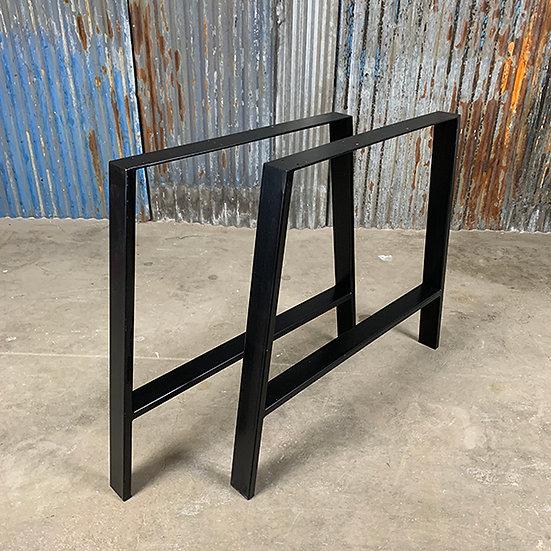 Kufen für Tischplatten | A-Form | Stahl | matt schwarz | 73x73x6 cm (2 Stk.)
