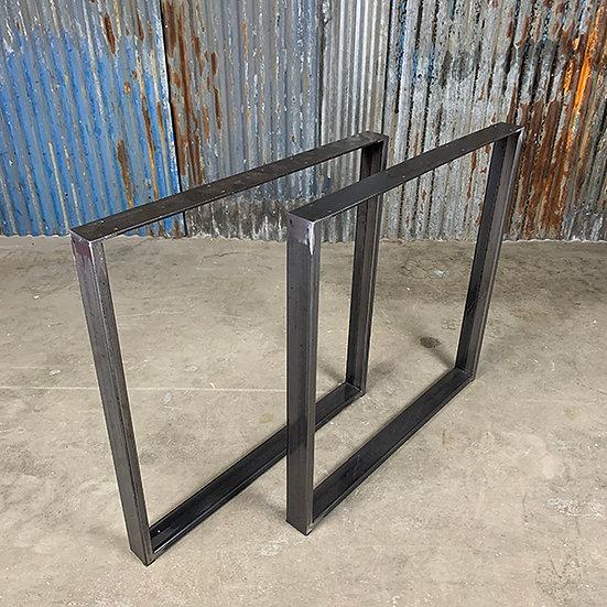 Kufen für Tischplatten | Stahl | glänzend metallic | 73x73x6 cm (2 Stk.)