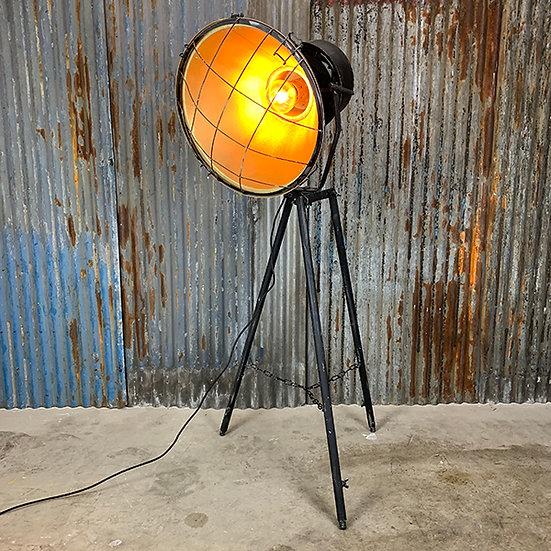 Vintage Industrielampe | 70/80er Jahre | aufgearbeitet | Schwarz
