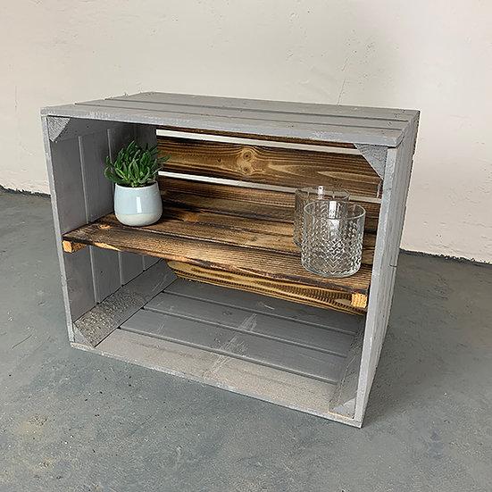 """Neue grau-geflammte Kiste """"Rinow"""" 50x40x30cm"""