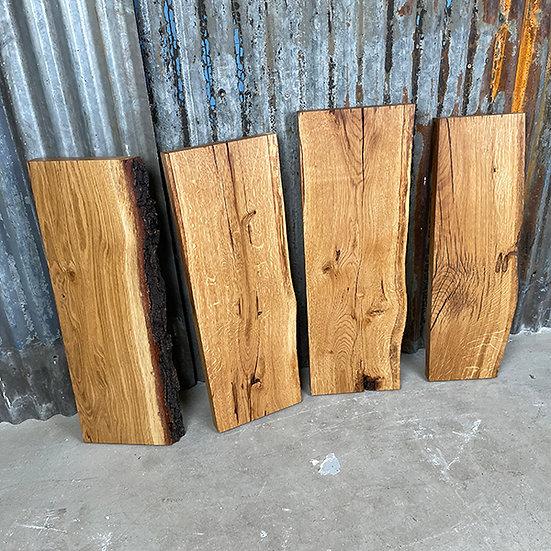 Massives Eichenbrett mit Baumkante | Geölt | gehobelt | ca. 60 cm