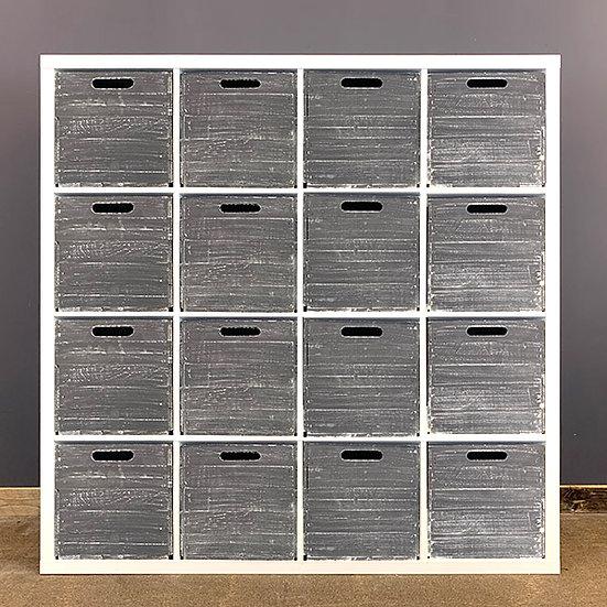 Schwarze Shabby Holzkiste für Kallax/Expedit-Regale | 33x37,5x32,5cm