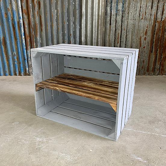 "Neue graue Kiste ""Tetzensee"" 50x40x30cm"