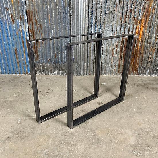 Kufen für Tischplatten | Stahl | matt metallic | 73x73x6 cm (2 Stk.)