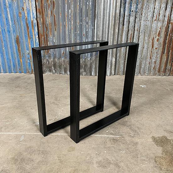 Kufen für Tischplatten   Stahl   mattschwarz   45x49x6 cm (2Stk.)