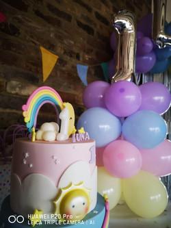 Luna pastel balloon tower