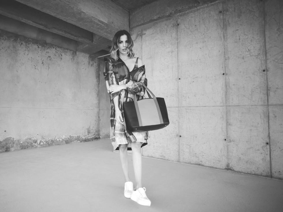 OLGA PIEDRAHITA BY CRISTINA WARNER  Photography: Carolina Osejo Model: Cristina Warner Hair&Makeup: Laura Pantoja Clothes: Olga Piedrahita, Carbone Bags  Bogotá/2018