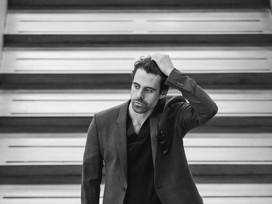 EMMANUEL ESPARZA  Photography: Carolina Osejo  Model: Emmanuel Esparza Hair&Makeup:Alejandro Romero Stylist: Juan David Moya Total look: Armani Location: Virgilio Barco Library  FUCSIA MAGAZINE Bogotá/2016