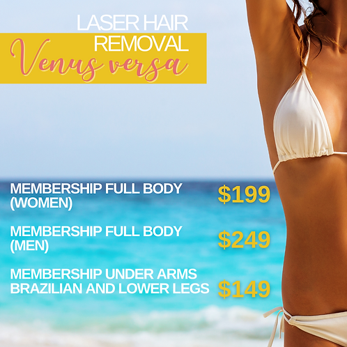 Laser Hair Removal Full Body Membership (for women)