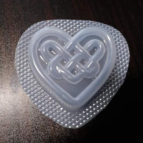 VALENTINE BATH BOMB / SOAP MOULD - CELTIC KNOT HEART