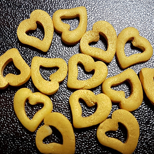 GOLD HEART SPRINKLES (HOLLOW HEARTS)