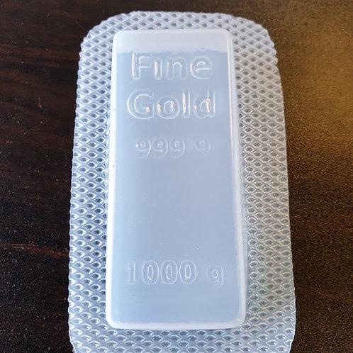 GOLD BAR INGOT BATH BOMB/SOAP MOULD