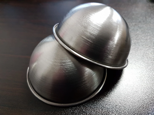 75MM STAINLESS STEEL BATH BOMB MOULDS