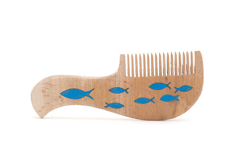 Balık Motifli 2'li Şimşir Tarak