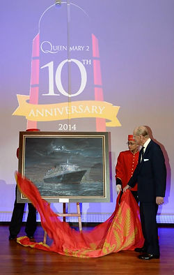 HRH The Duke of Edinburgh unveils a painting by Robert G. Lloyd
