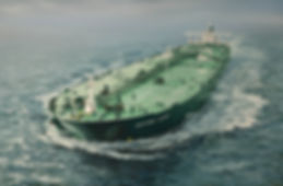VLCC Neptune Glory, oil on canvas painting 35x45 inches by Robert G Lloyd