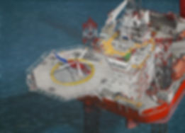 GMS Endeavour Helideck aerial view
