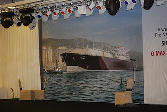 Naming ceremony QatarGas Q-Max vessels