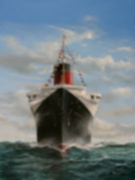 SS Normandiefine art limited edition print