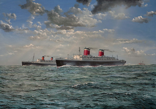 SS.United States and RMS Quen Mary passi
