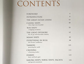 In Deep Water contents page