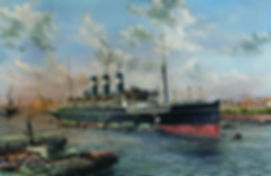 Tairea at Calcutta, oil on canvas painting by Robert G. Lloyd