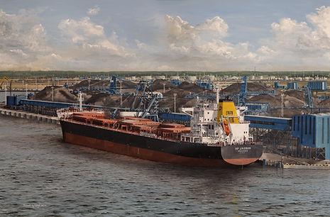 Loading coal at Ust Luga, Russia