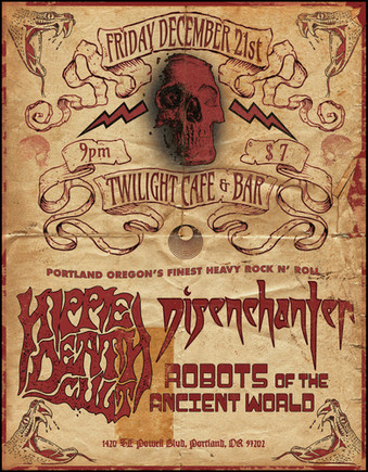 Hippie Death Cult Twilight Flyer