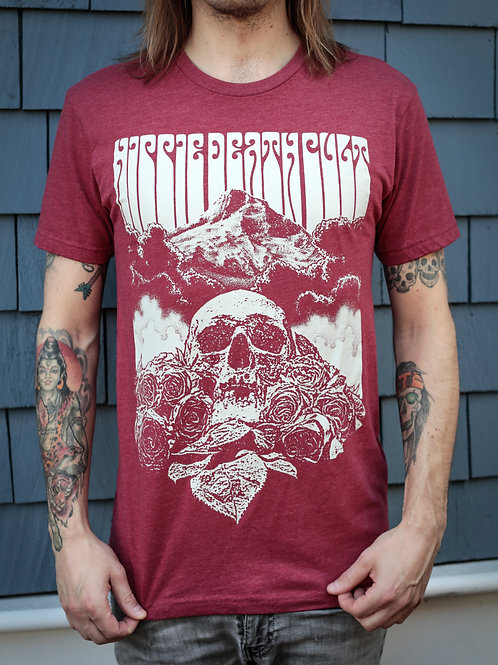 Skull Mountain Red Tee