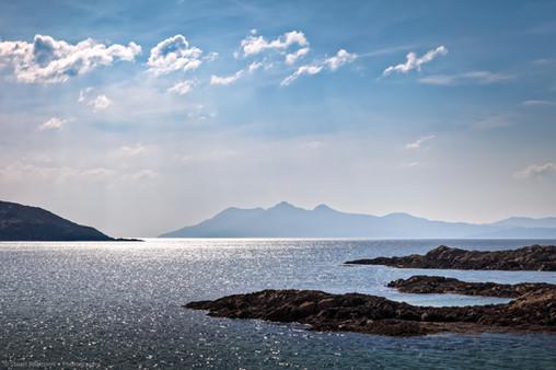 Towards the Isle of Rùm, Scotland