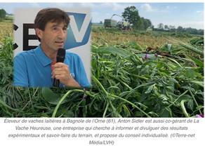 Anton Sidler (61), La Vache Heureuse« 25 litres de lait par jour sans tourteau c'est possible »