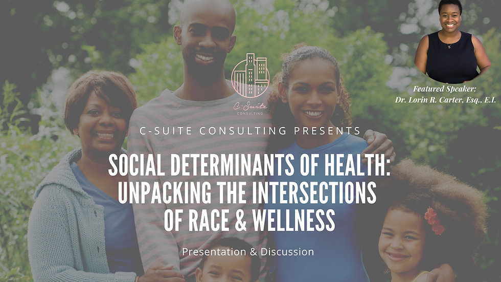 Social Determinants of Health: Unpacking the Intersections of Race & Wellness