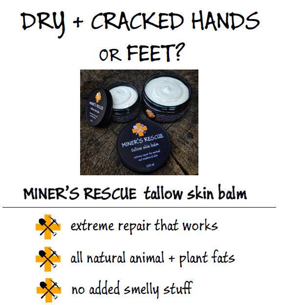 miner's rescue-tallow-skin-balm-protecti