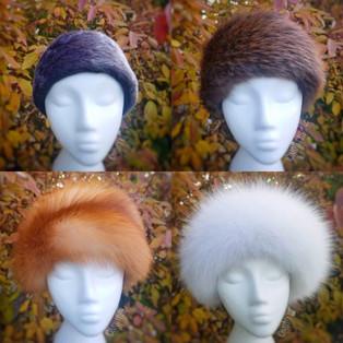fur ear warmer winter headbands