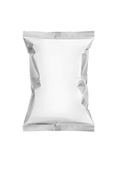 blank packaging snack pouch isolated on