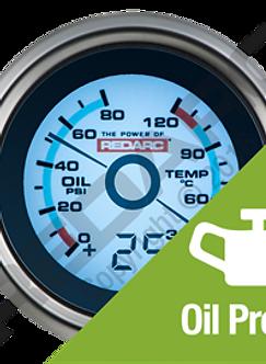 REDARC Oil Pressure & Oil Temp Gauge
