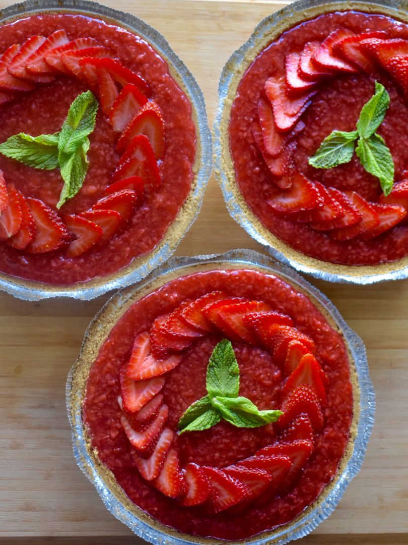 Chocolate Ganach & Strawberry Pies