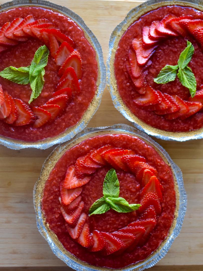 Chocolate Ganach & Strawberry Pies