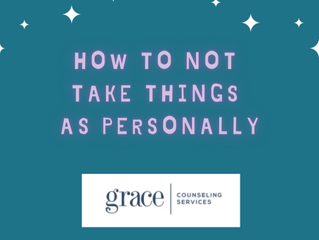 How To Not Take Things As Personally