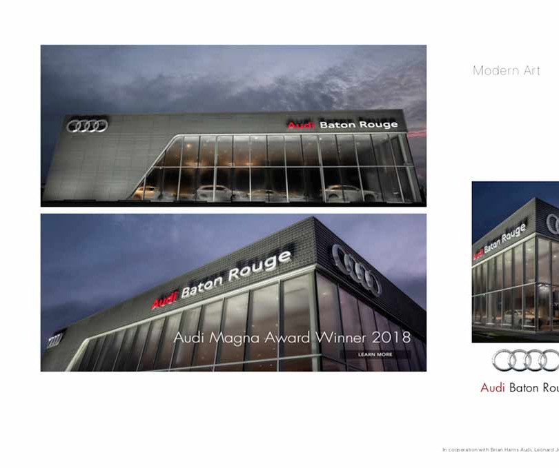 5. Audi, in cooperation with Brian Harris Audi, Baton Rouge  (logo for composite position)