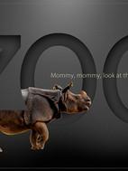 Zoo-mock-up, rhino