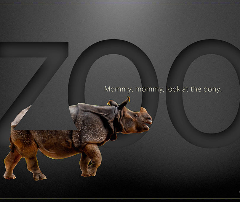 Zoo-mock-up, rhino