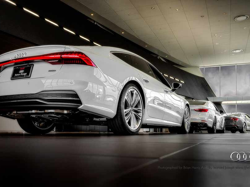 13. Audi, in cooperation with Brian Harris Audi, Baton Rouge  (logo for composite position)