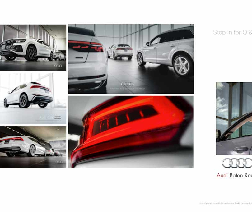 7. Audi, in cooperation with Brian Harris Audi, Baton Rouge  (logo for composite position)  Q & A refers to Audi Qs and Audi As