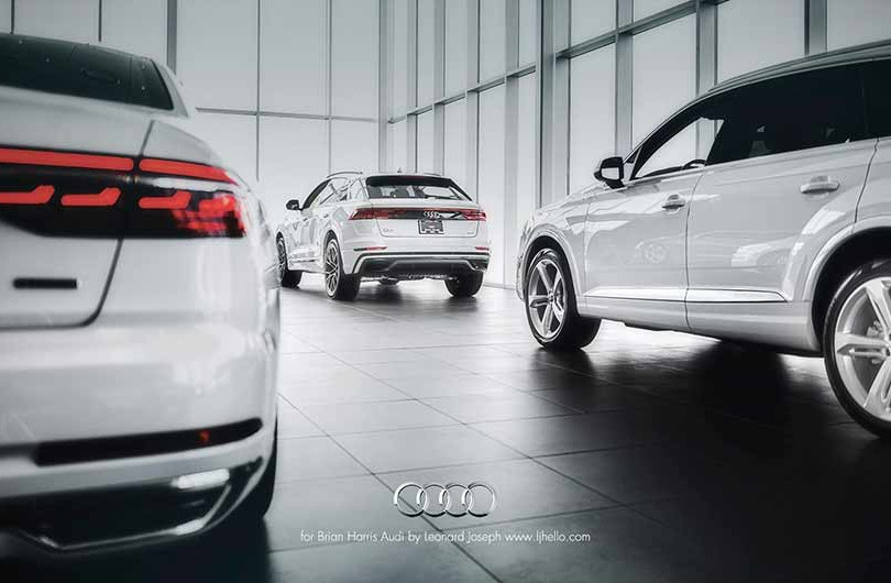 4. Audi, in cooperation with Brian Harris Audi, Baton Rouge  (logo for composite position)