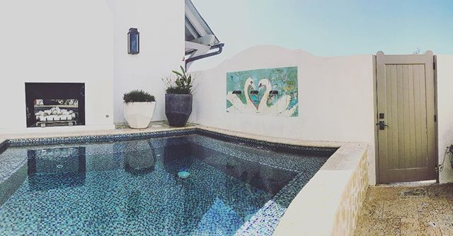 Pots by the pool. Aye-o